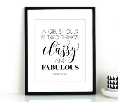 BestofBharat - A girl should be two things, Coco Chanel quotes, Typography wall art, Classy and fabulous, Glam decor, Typography print